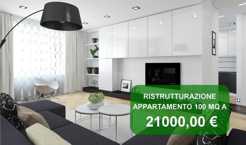 Offerta ristrutturazione appartamento roma 100 mq a 21000 for Ristrutturare appartamento 75 mq