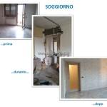 01 - Ristrutturazione appartamento Roma zona Alessandrino - Soggiorno